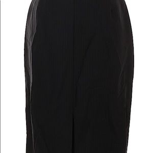 Etcetera Casual Skirt Size 6 Solid Black NWOT